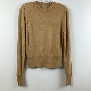 Twik for Simons Crew Neck Knit Sweater in Beige
